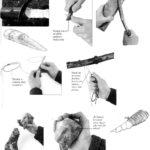 Użycie noża i drucianej piłki